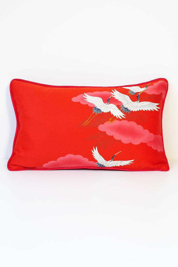 White Stork Cushion 5 - Oblong