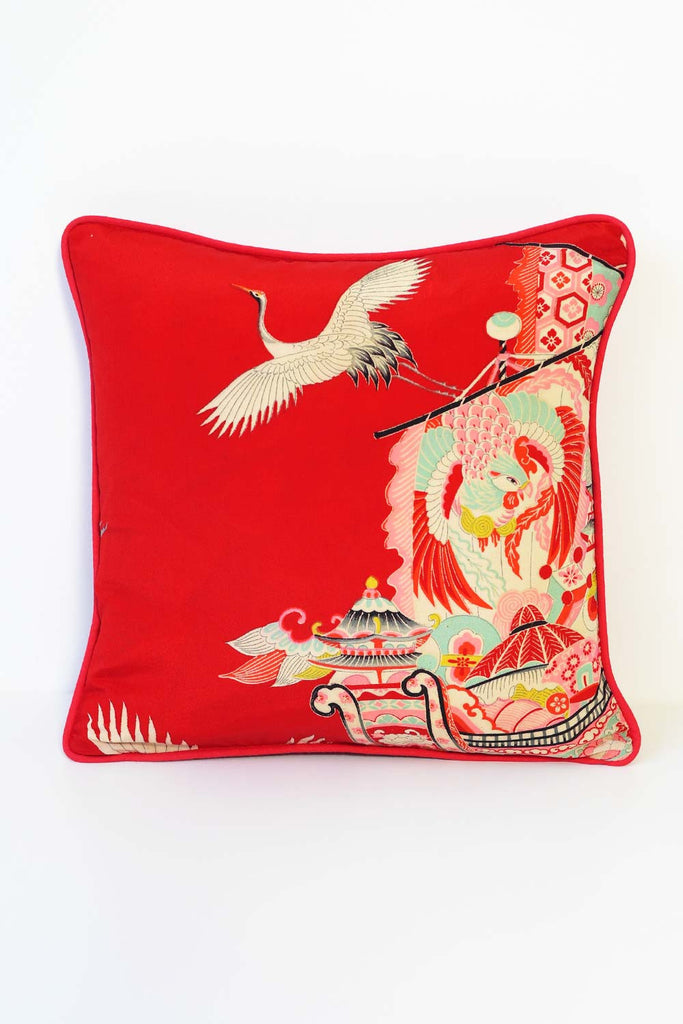 White Stork Cushion 3