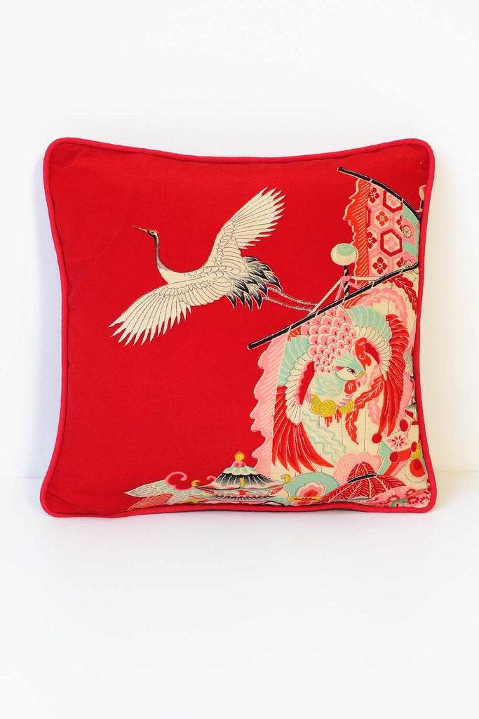 White Stork Cushion 7