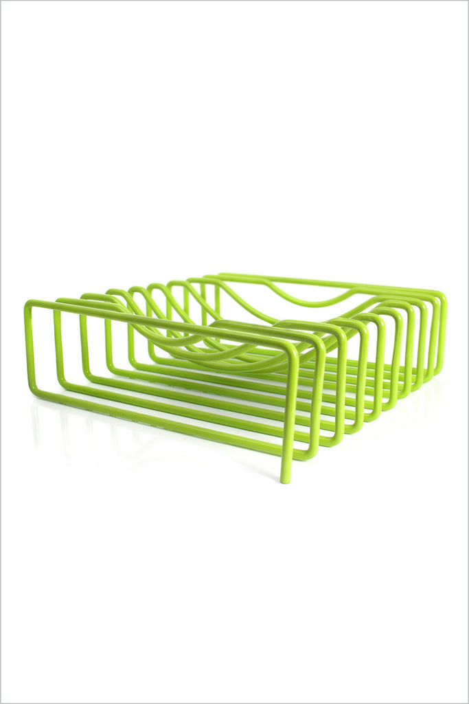 Block Wire Fruit Bowl - Lime