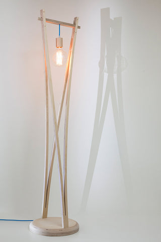 Wishbone Pendant Floor Lamp