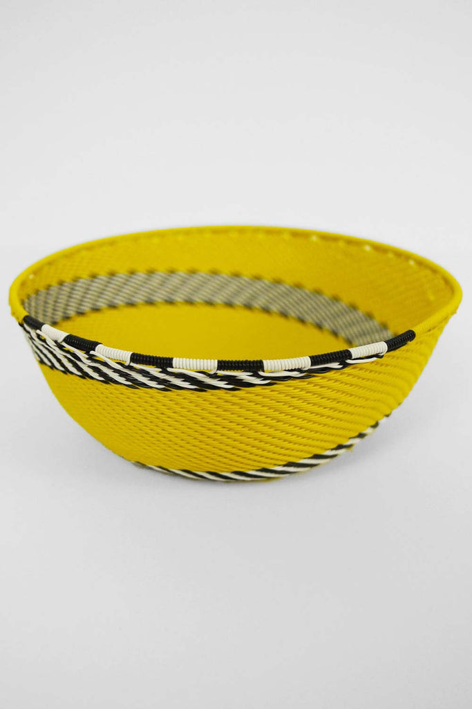 African Woven Bowl - Yellow