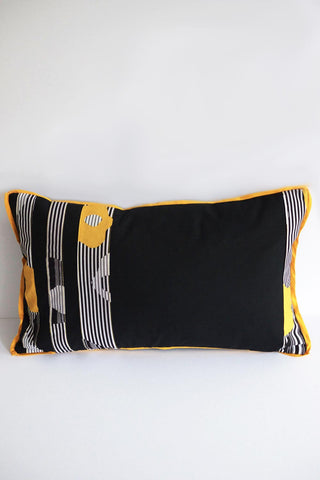 Yellow Stripe Cushion