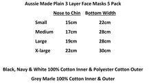 Load image into Gallery viewer, Aussie Made Face Masks 5 Pack