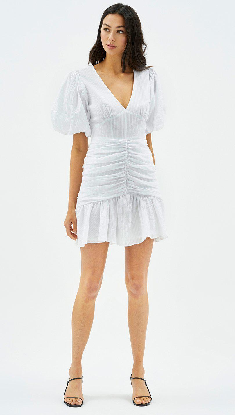 CARRIE RUCHED MINI DRESS