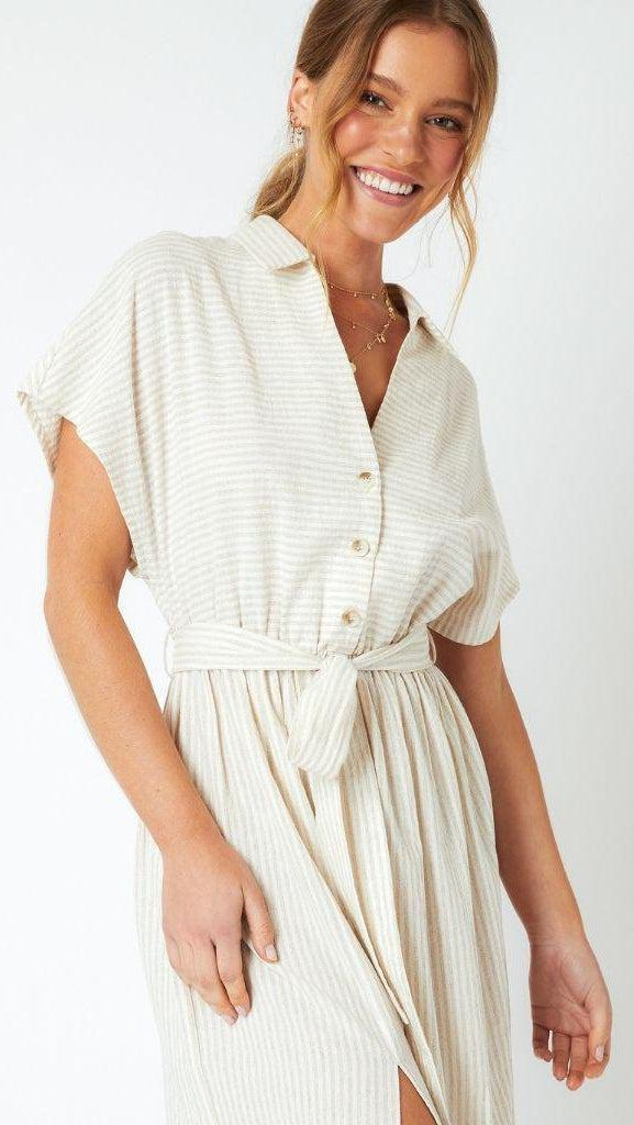 Gina Stripe Shirt Dress