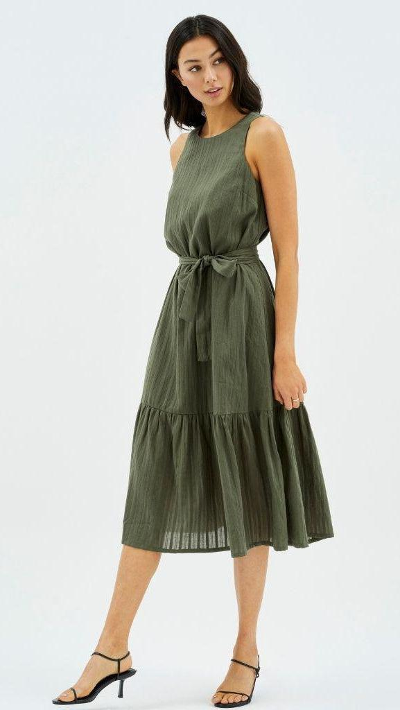 Crew Shift Midi Dress