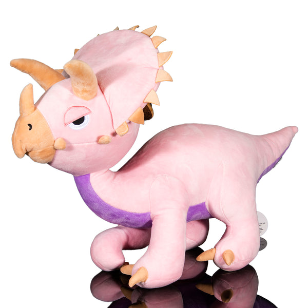 Pink Triceratops Plush Toy