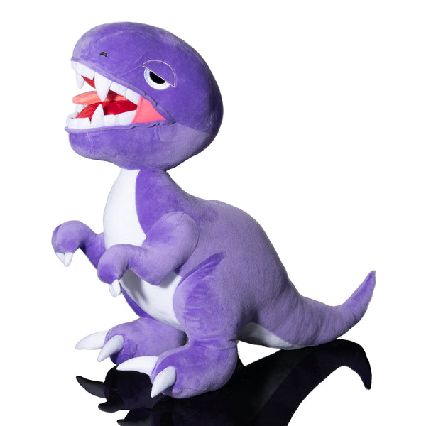 Purple Open Mouth Raptor Plush Toy