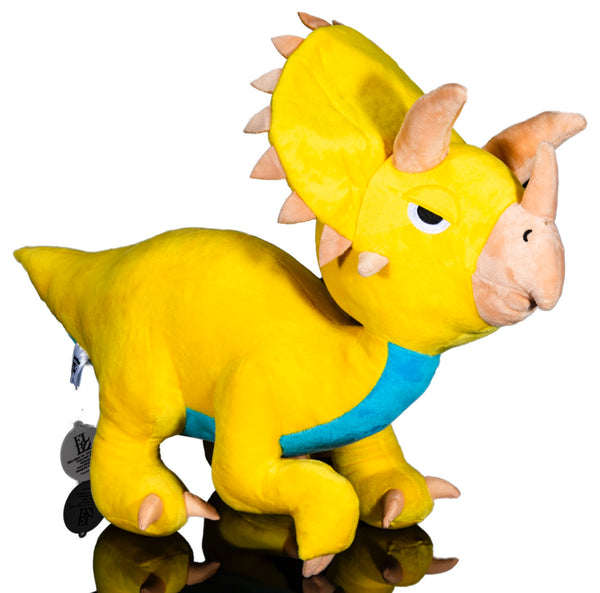 Yellow Triceratops Plush Toy