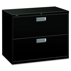 Two Drawer Lateral File - Black