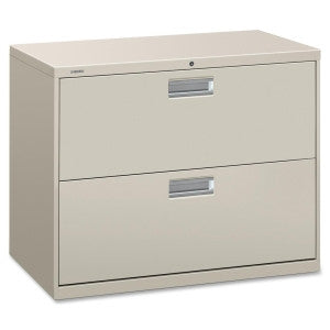 Two Drawer Lateral File - Grey