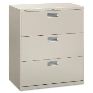 Three Drawer Lateral File - Grey