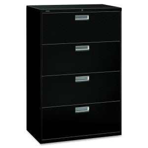 Four Drawer Lateral - Black