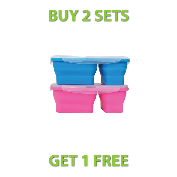 FLAT STACKS 2 PC. LUNCH BOXES OFFER - Ocean Sales USA