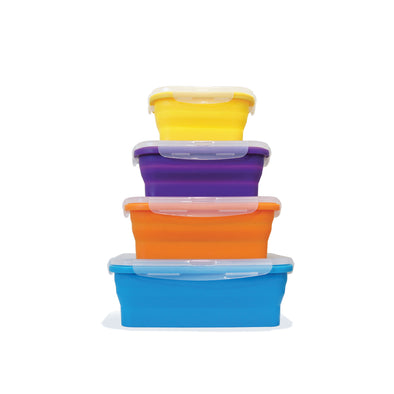 FLAT STACKS 4 PC. RECTANGLE CONTAINER SET - Ocean Sales USA
