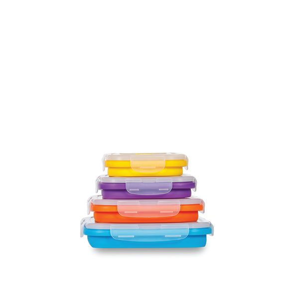 FLAT STACKS 4 PC. SQUARE CONTAINER SET - Ocean Sales USA