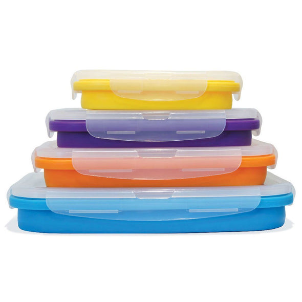 FLAT STACKS 4 PC. RECTANGLE CONTAINER SET OFFER - Ocean Sales USA