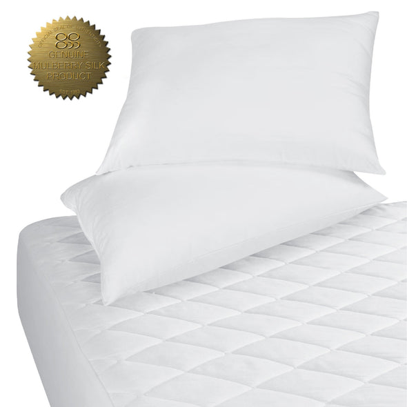 MULBERRY SILK MATTRESS PAD + PILLOW PROTECTORS - Ocean Sales USA
