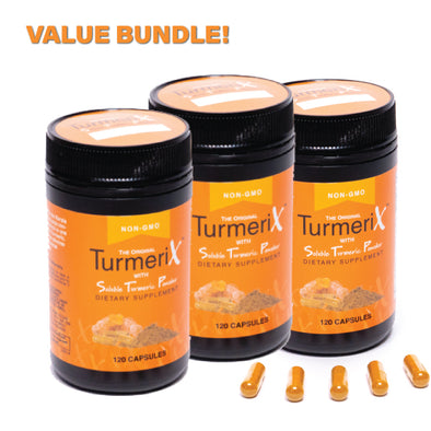 TurmeriX™ Capsules 120s x 3 Value Bundle - Ocean Sales USA