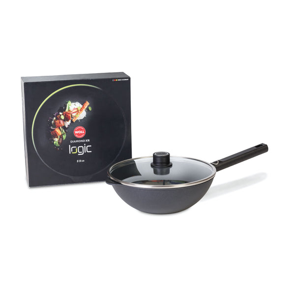 "WOLL DIAMOND XR LOGIC 11"" WOK + GLASS LID W/SS TRIM - Ocean Sales USA"