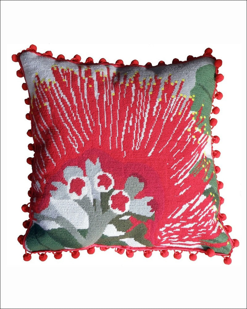 Pohutukawa Needlepoint Cushion