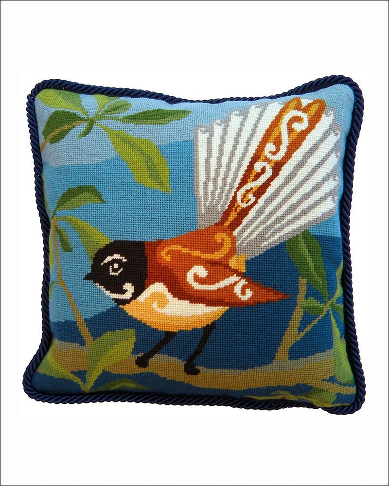 Fantail Needlepoint Cushion