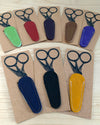 Leather Embroidery Scissor Case