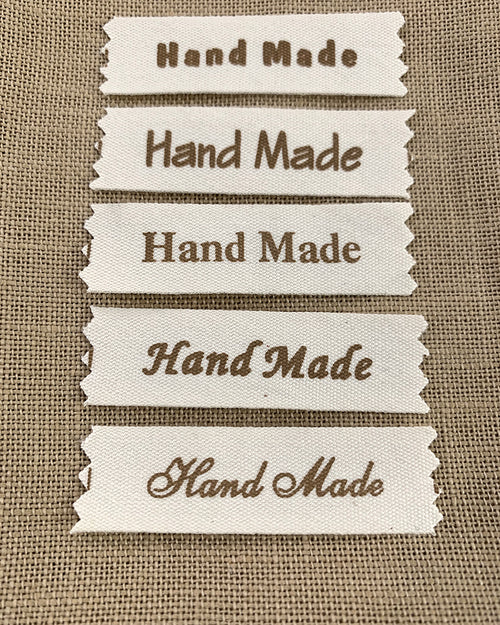 Hand Made Cotton Labels