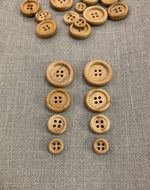 Wooden 4 Hole Button