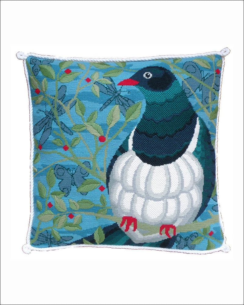 Kereru Needlepoint Cushion