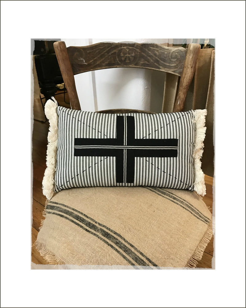 Black Cross Cushion