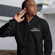 Load image into Gallery viewer, Vote Warnock Zip-Up Hoodie