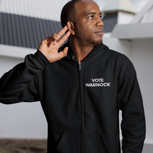 Vote Warnock Zip-Up Hoodie