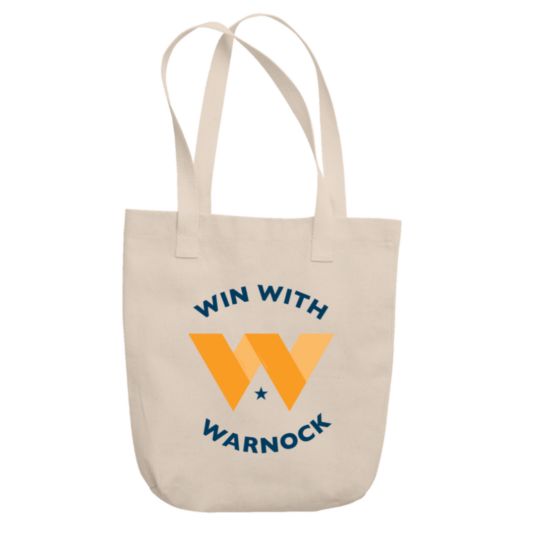 Win with Warnock Tote