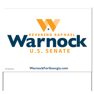 Warnock for Georgia Yard Sign