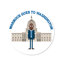 Load image into Gallery viewer, Warnock Goes to Washington Sticker