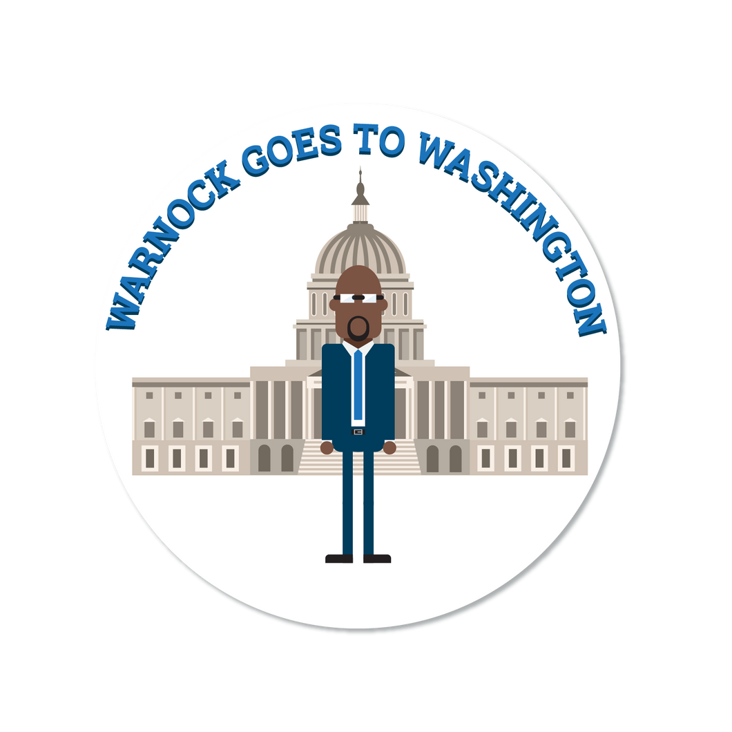 Warnock Goes to Washington Sticker