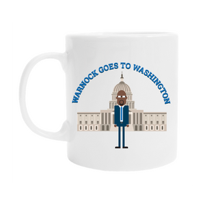 Warnock Goes to Washington Mug