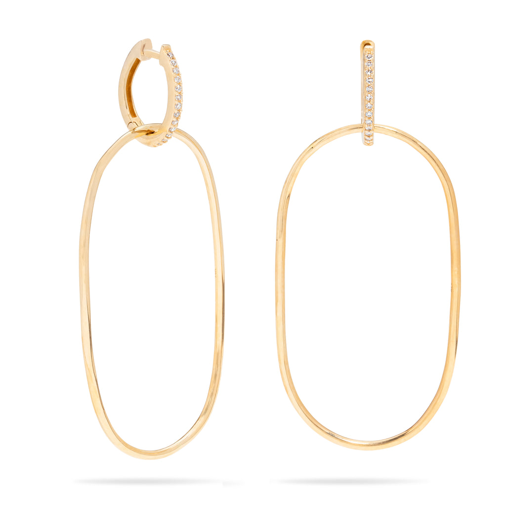 Oval Double Hoop