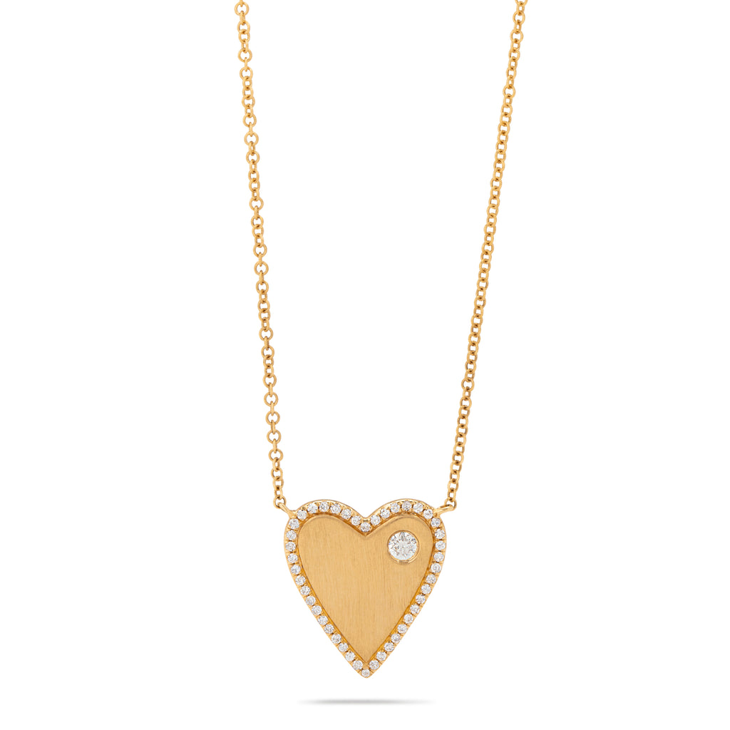 Heart Necklace with Diamond