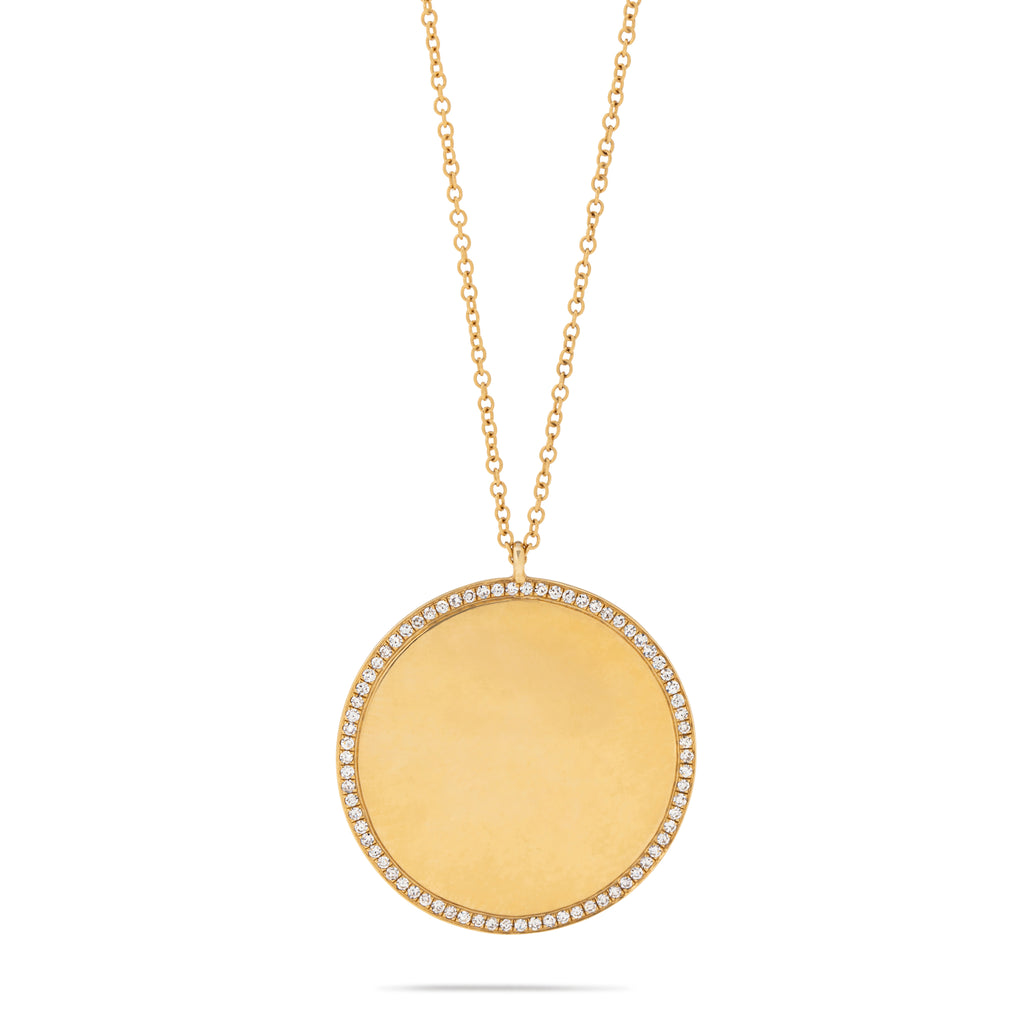 Disc with Diamonds Necklace