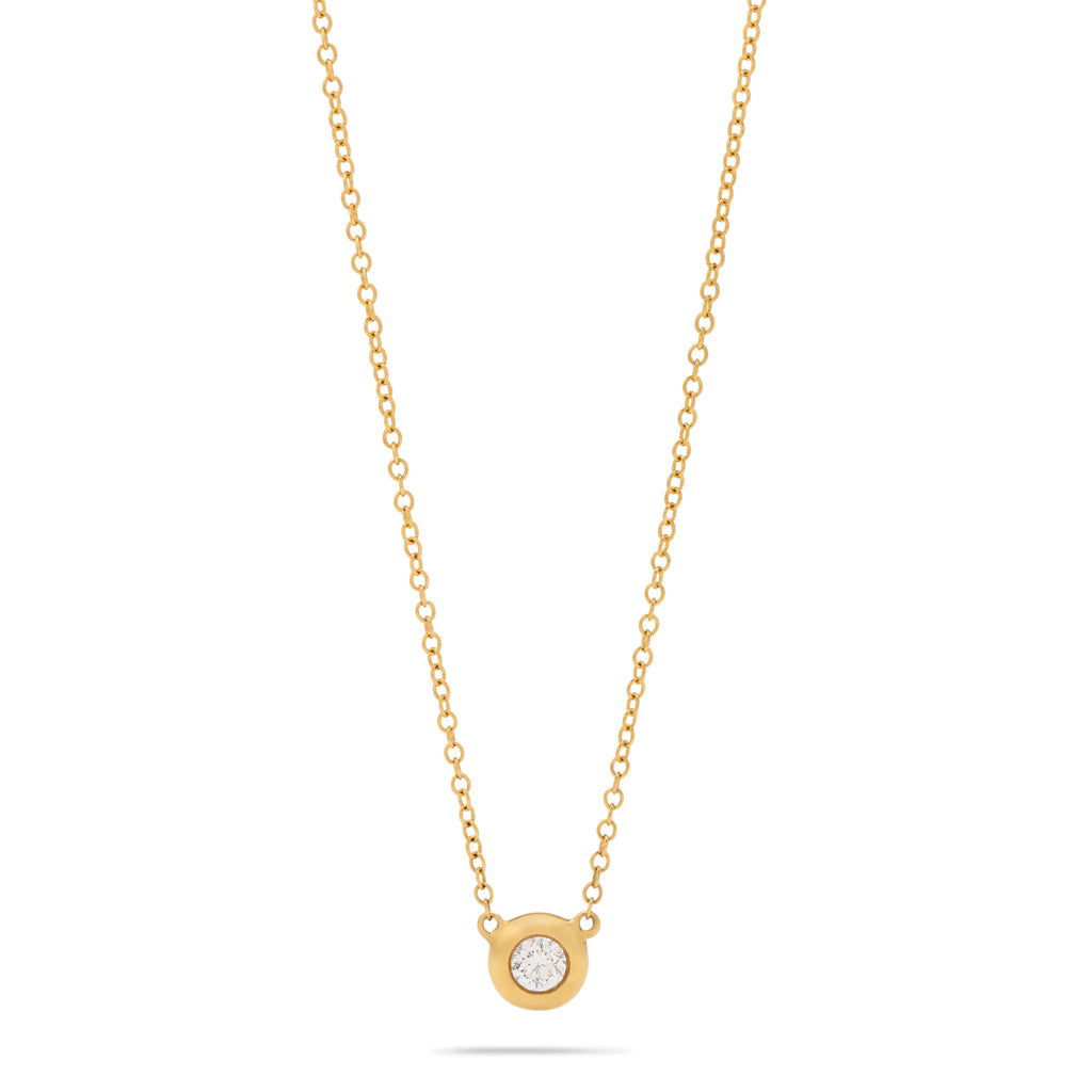 Single Bezel Necklace