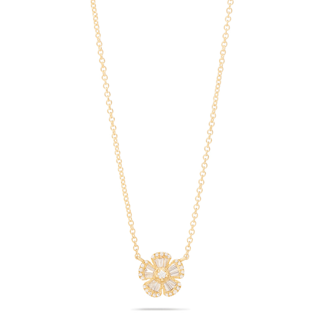Flower Baguette Necklace