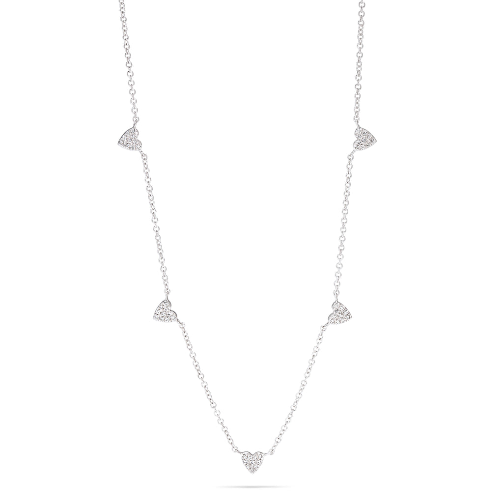 Multi Heart Diamond Necklace