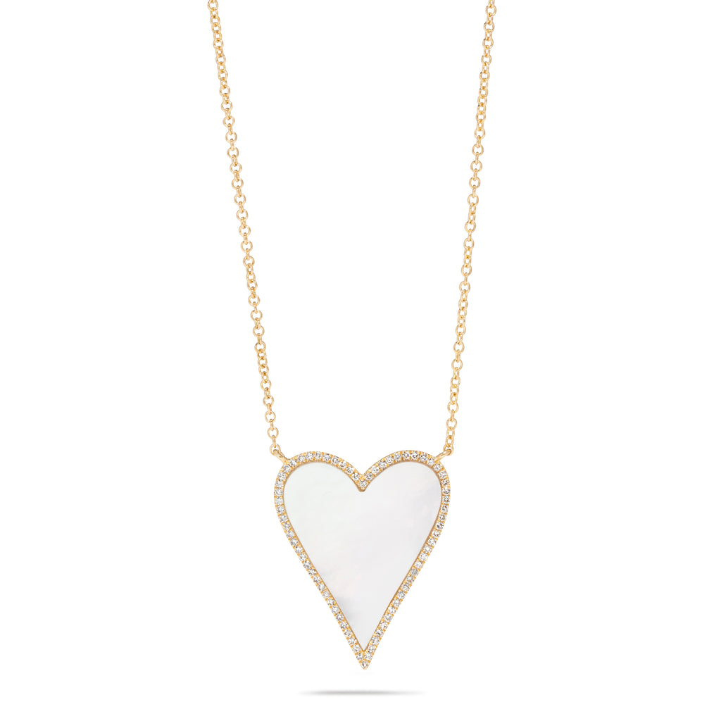 Mother of Pearl Hear Necklace