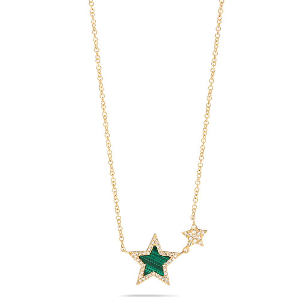 Double Star Malachite Necklace