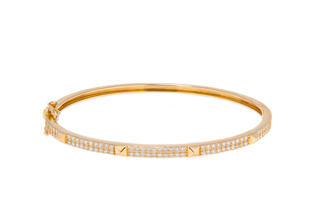 Diamond Pyramid Bangle