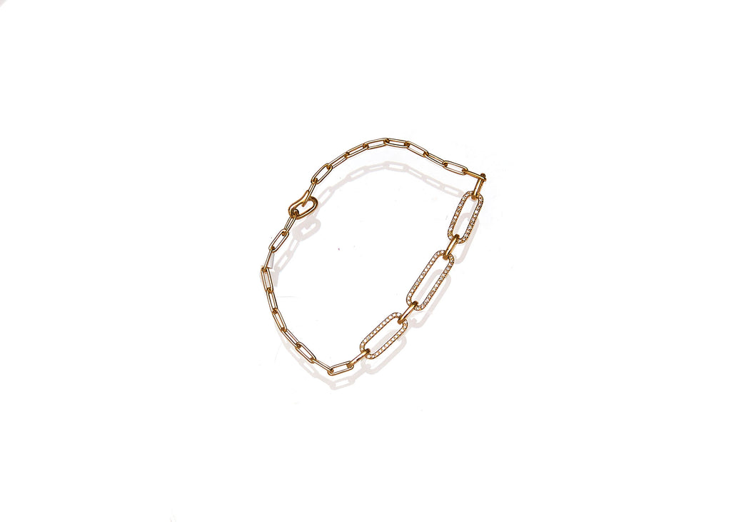 Diamond Link Chain Bracelet