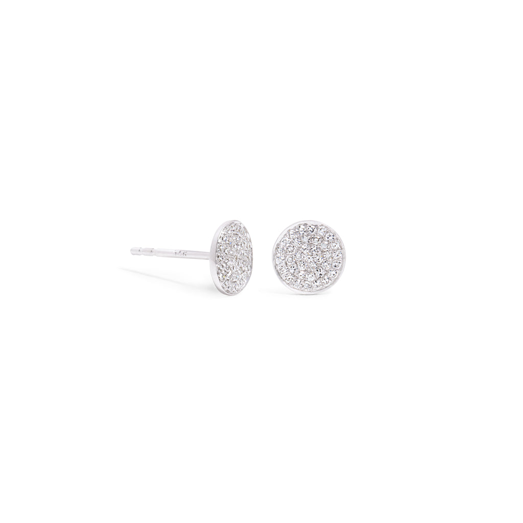 Medium Diamond Disc Stud with Edge